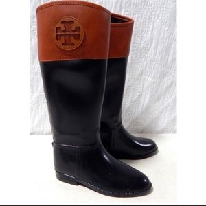 Send offer🔥SALE Tory Burch leather &rubber boots